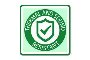 Thermal and sound resistant