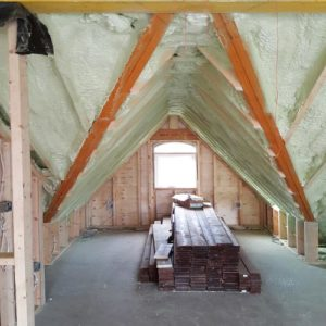 Sprayfoam in the Attic